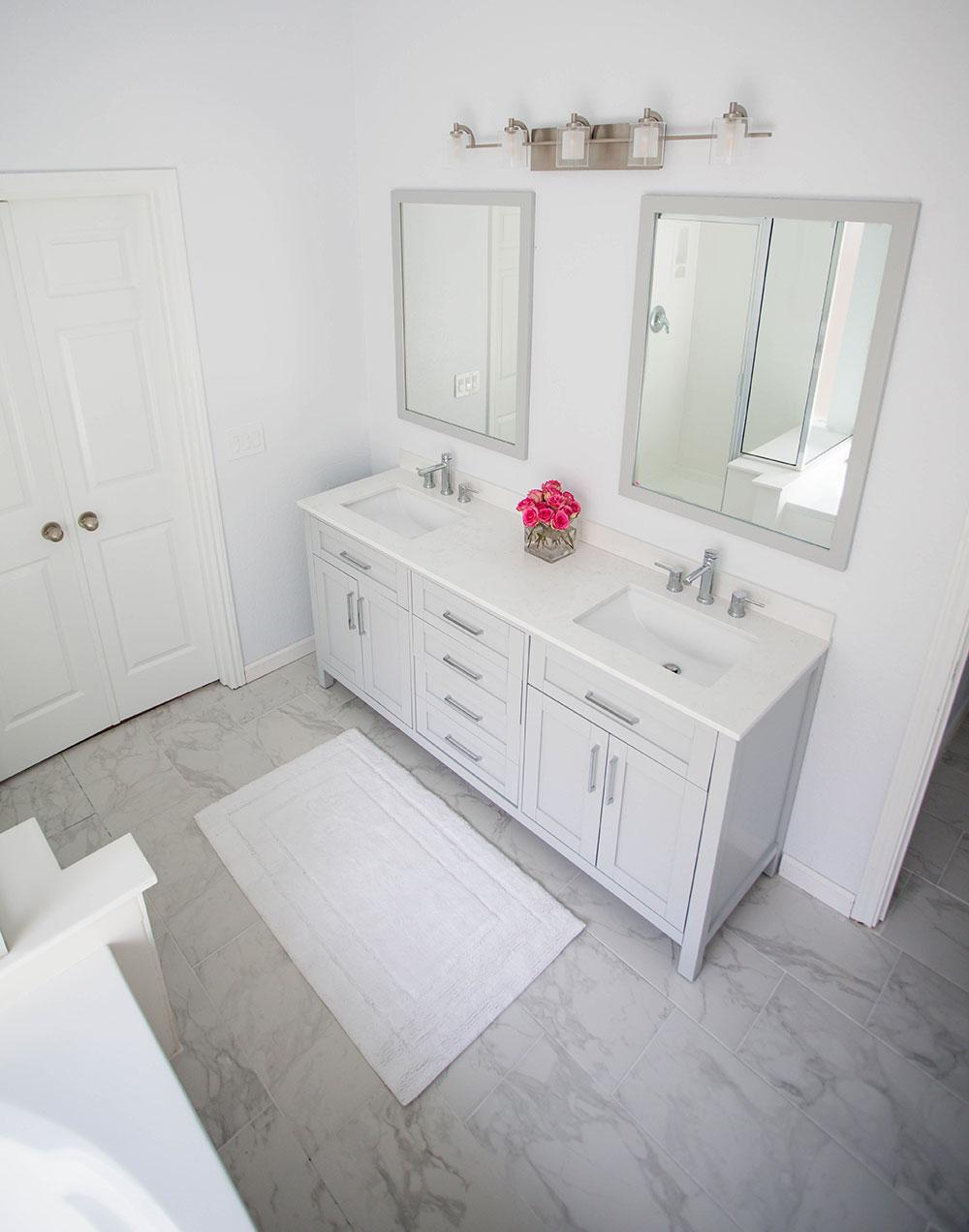 AllModern White Bathroom Renovation Top View
