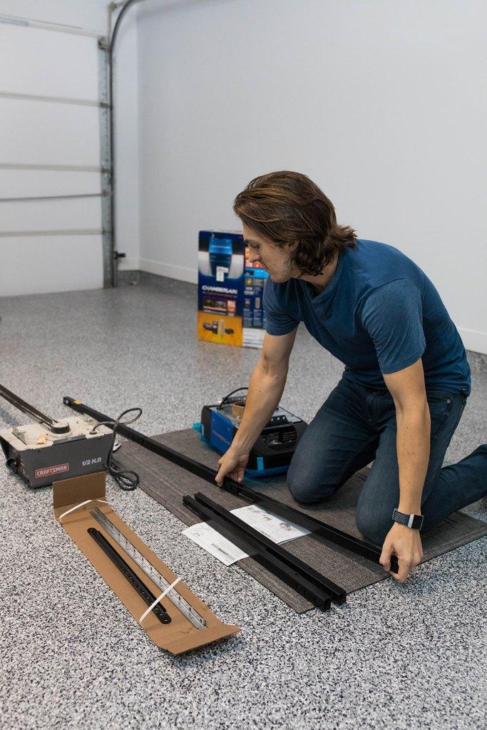 Assembling the Installing the Chamberlain Smart Garage Door Opener