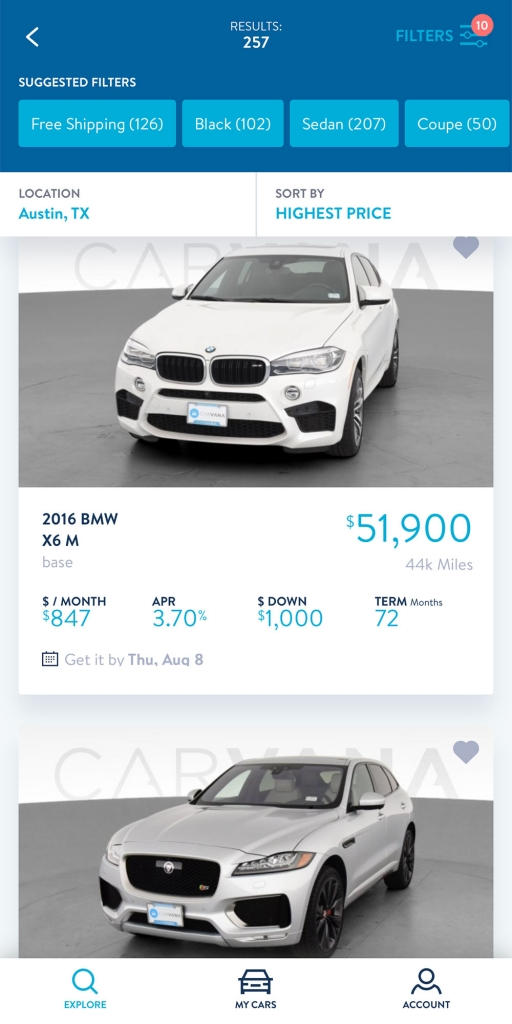 Carvana Car App