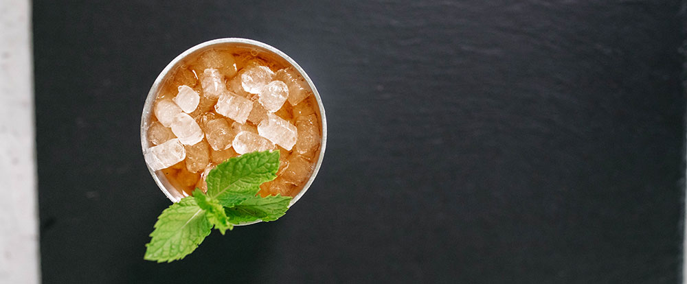 Mint Julep made with Nugget Ice Long