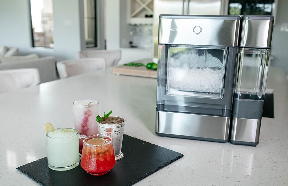 4 Summer Drinks Made with Nugget Ice on Slate
