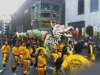 Yau Kung Moon dragon in Union Square