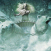 tilda swinton as the white witch, in chariot