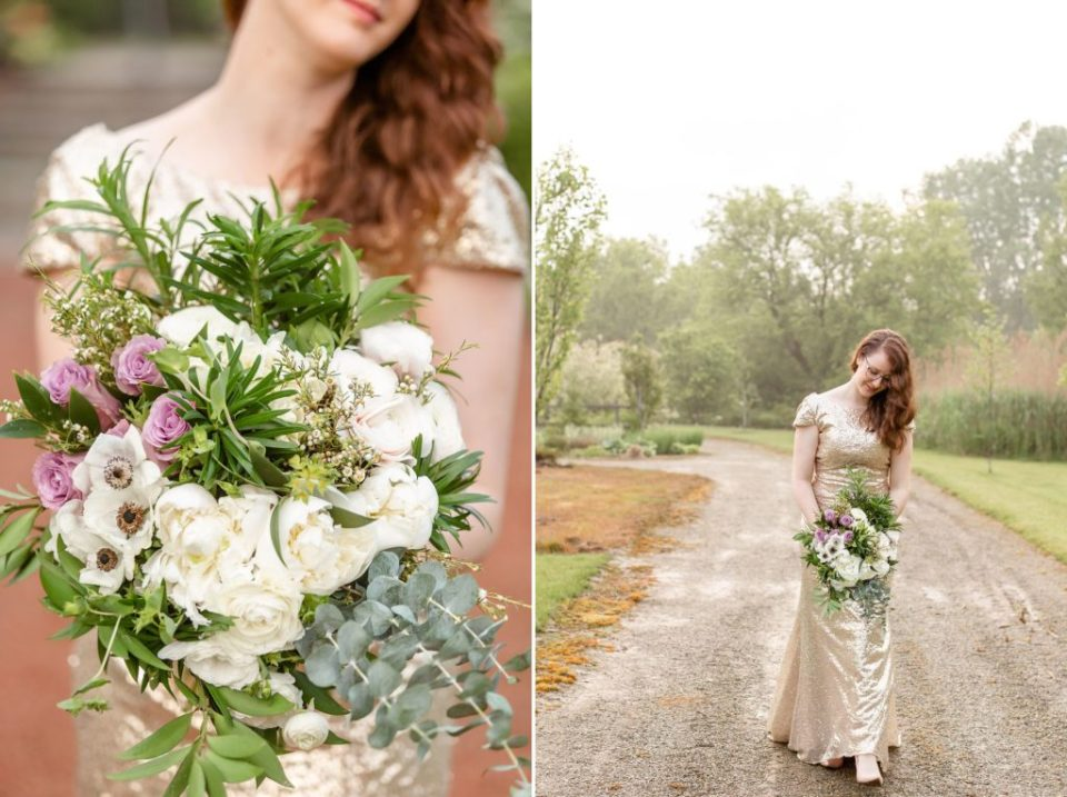 10th Anniversary Photography Session with flowers by Van R Florals