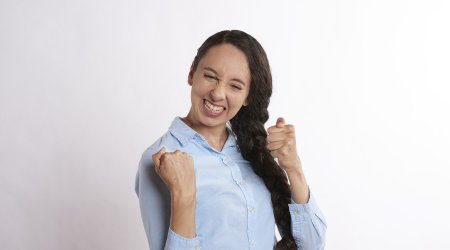 Excited Woman Just Found Free Images