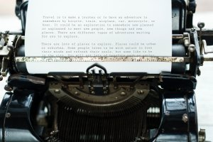 Photo of typewriter by rawpixel on Unsplash