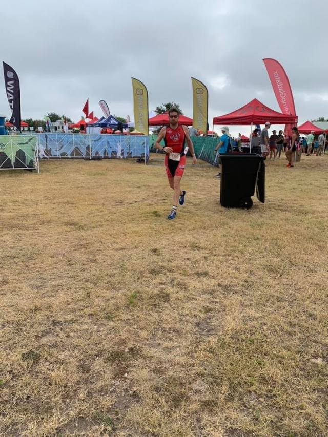 Dylan Cornelius beginning to run a 5k at the 2019 Jack's Generic Triathlon