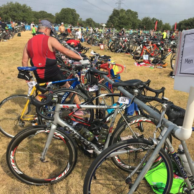 The chaos of transition at 2019 Jack's Generic Triathlon
