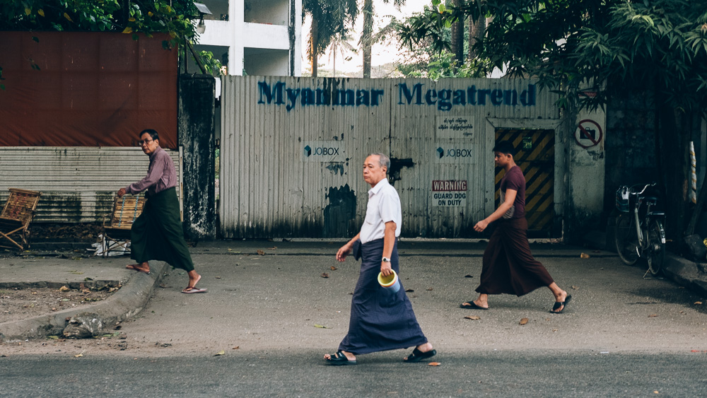 Longyi, Yangon Downtown, Myanmar - Photographer