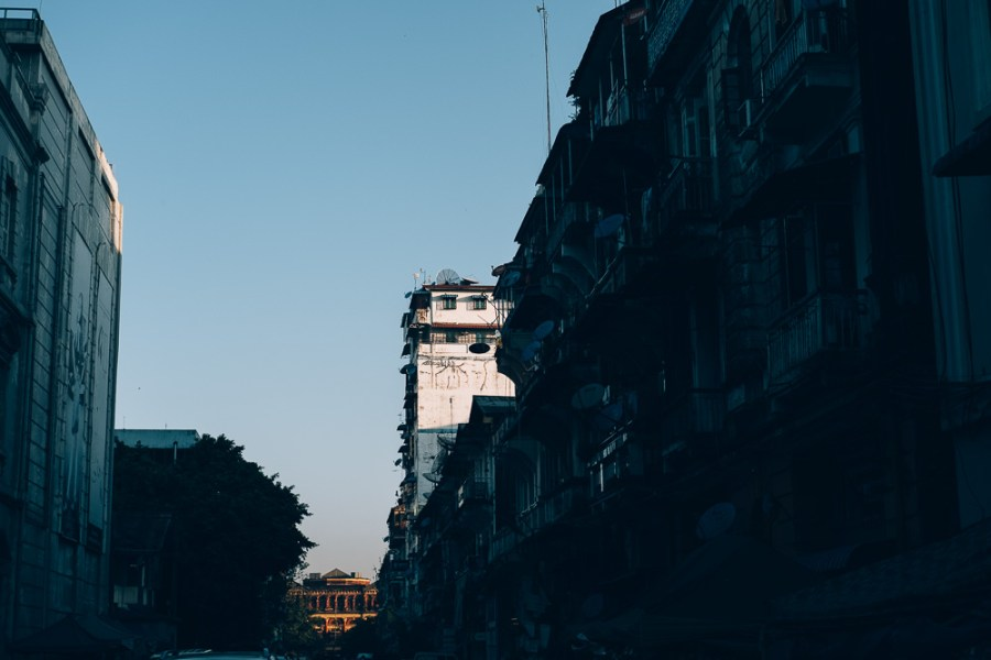 Sunrise, Yangon Downtown, Myanmar - Photographer