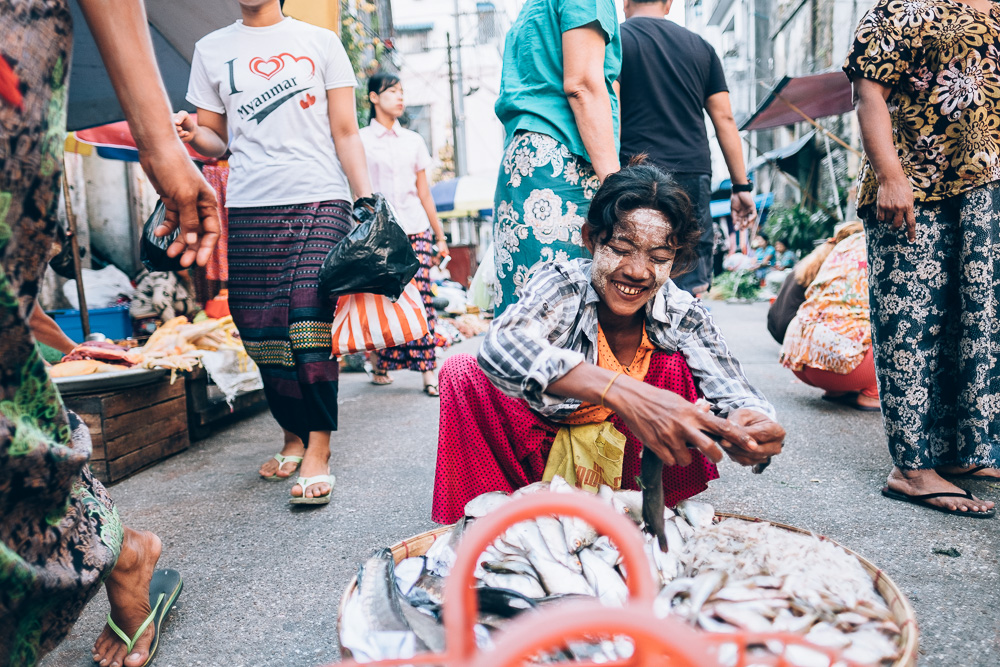 Market, Yangon Downtown, Myanmar - Photographer