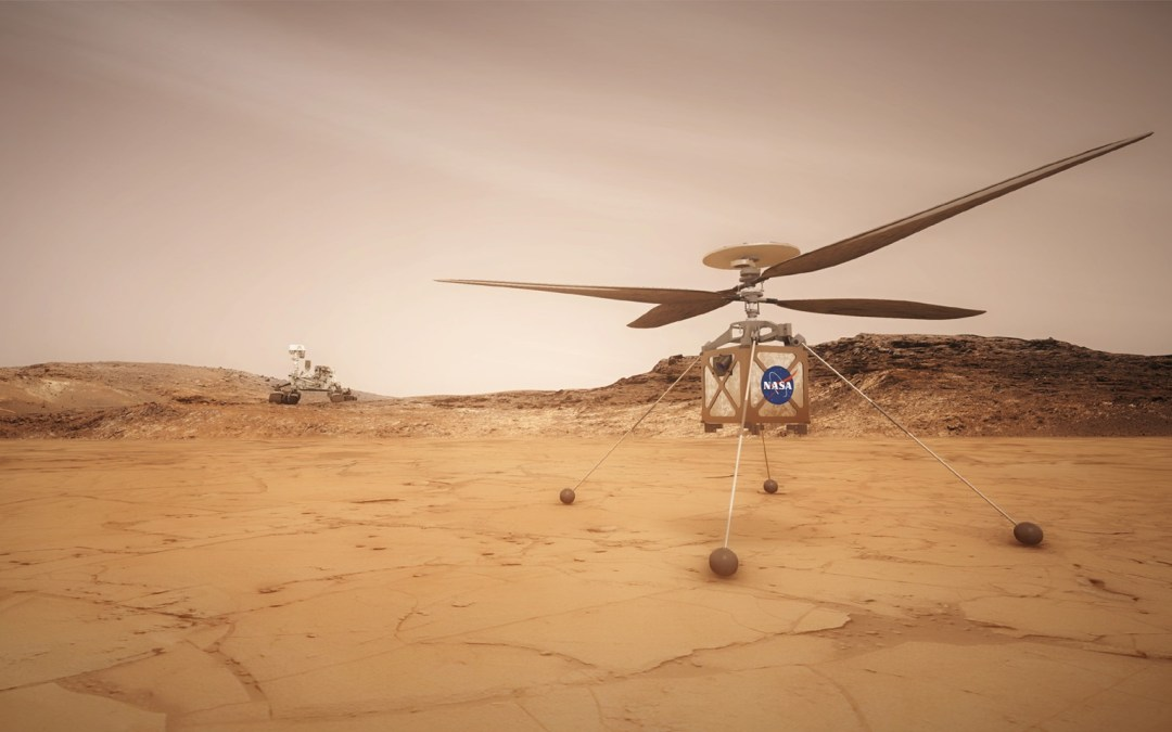 Mars helicopter bound for the Red Planet takes to the air for the first time