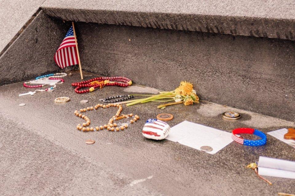 Tokens left the Flight 93 Memorial