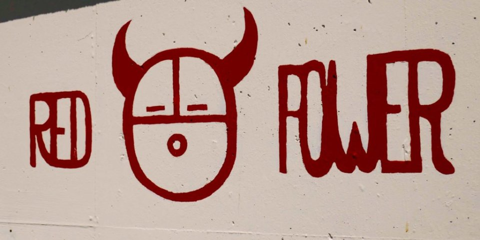 Graffiti that says Red Power