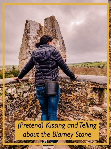 Photo redirecting readers to an article about kissing the Blarney stone on your self drive tour of Ireland
