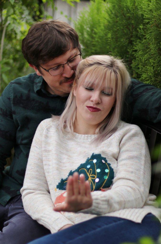 Christmas Card Couples Photo Shoot at Longwood Gardens 2