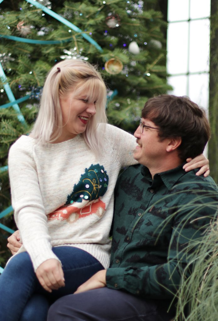 Christmas Card Couples Photo Shoot at Longwood Gardens 6