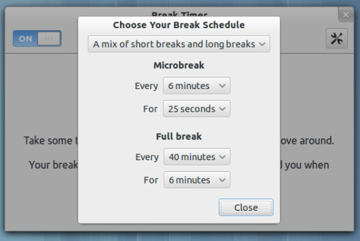 The Schedule dialog has two fewer buttons, and some much more direct choices.