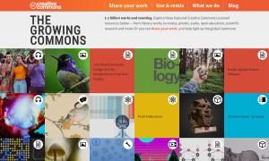 Screenshot of creativecommons.org