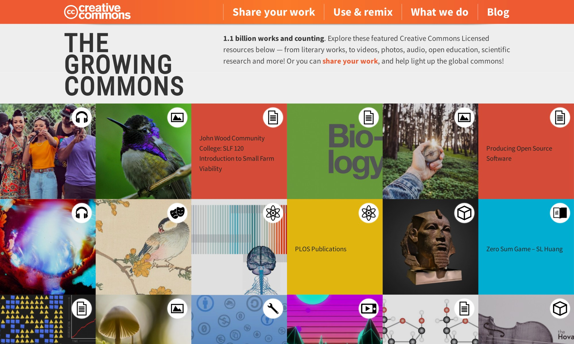 Screenshot of creativecommons.org