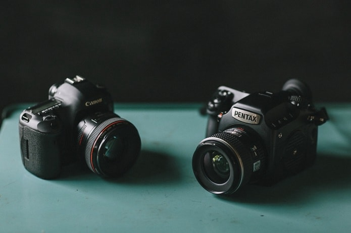 pentax 645z vs canon 5d mark iii photo