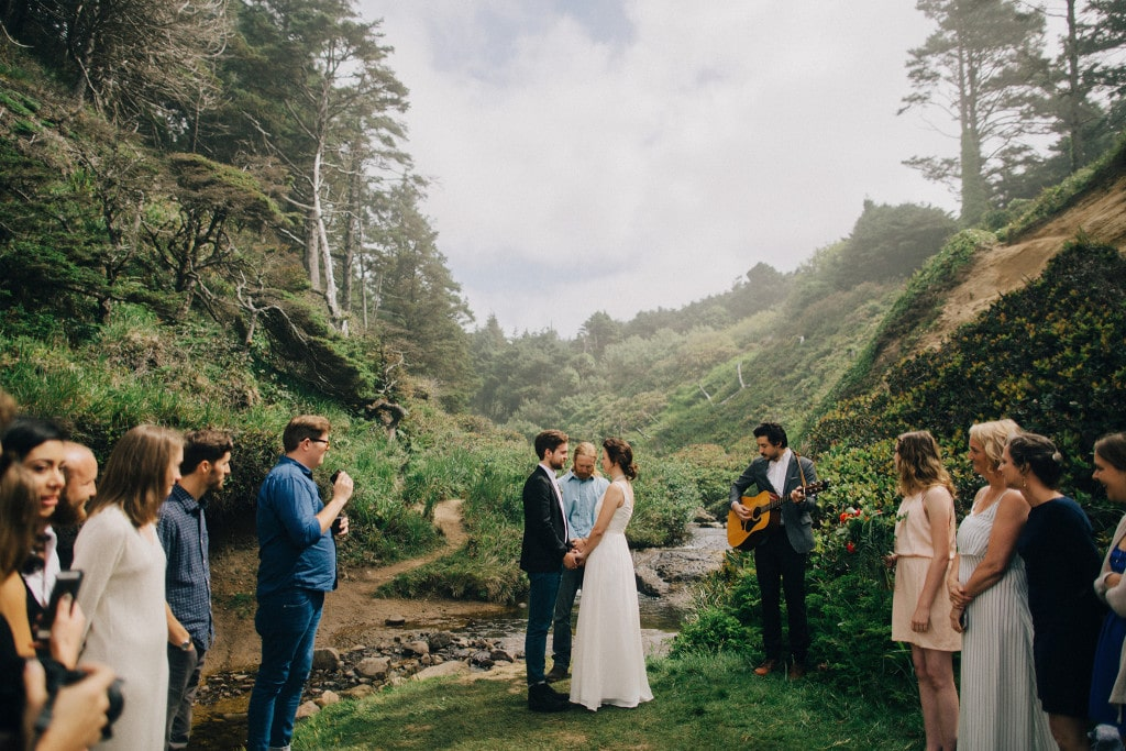 oregon coast elopement photo