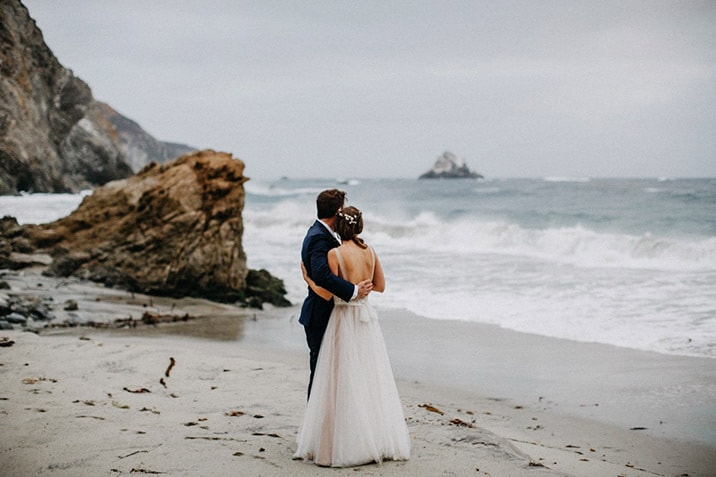 big sur wedding beach portraits