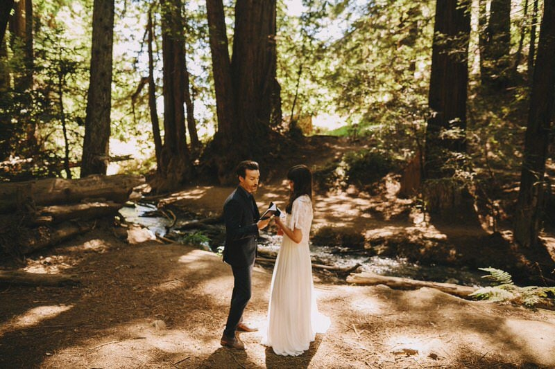 forest elopement photo