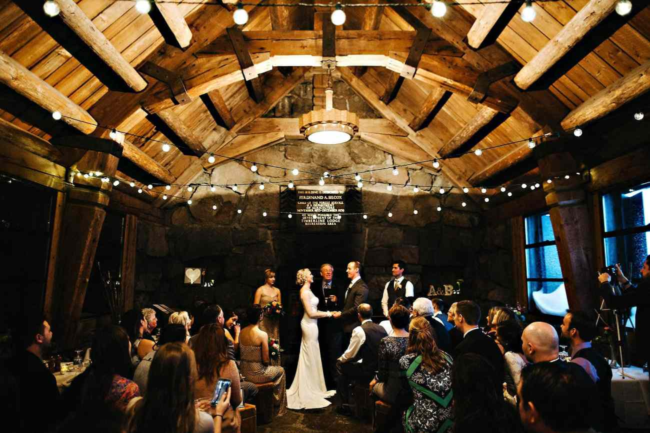 silcox hut wedding photo