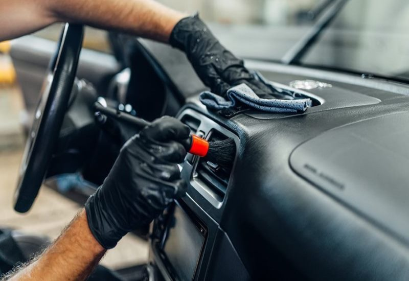 process included in interior car detailing