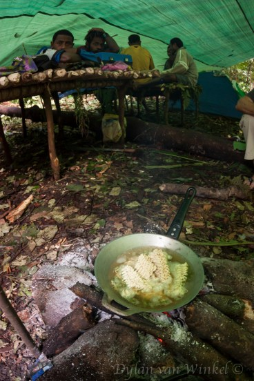 Lunch almost ready at base camp, Lake Hargy