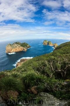 Aorangaia and Archway Islands, from Tatua Peak