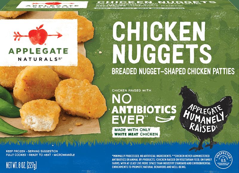 natural chicken nuggets applegate