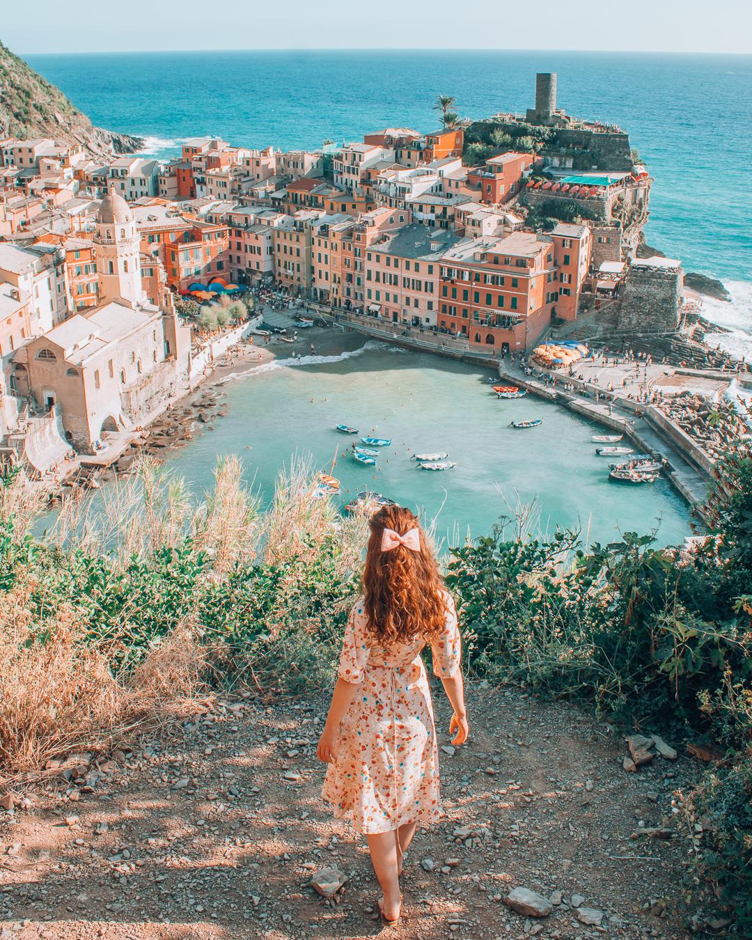 Girl in Cinque Terre