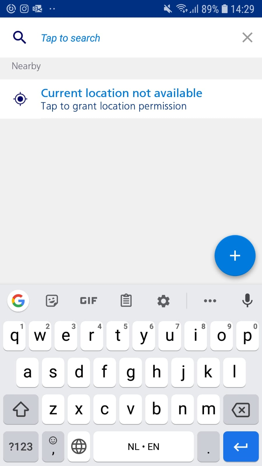 Example how to give location permission in NS app.