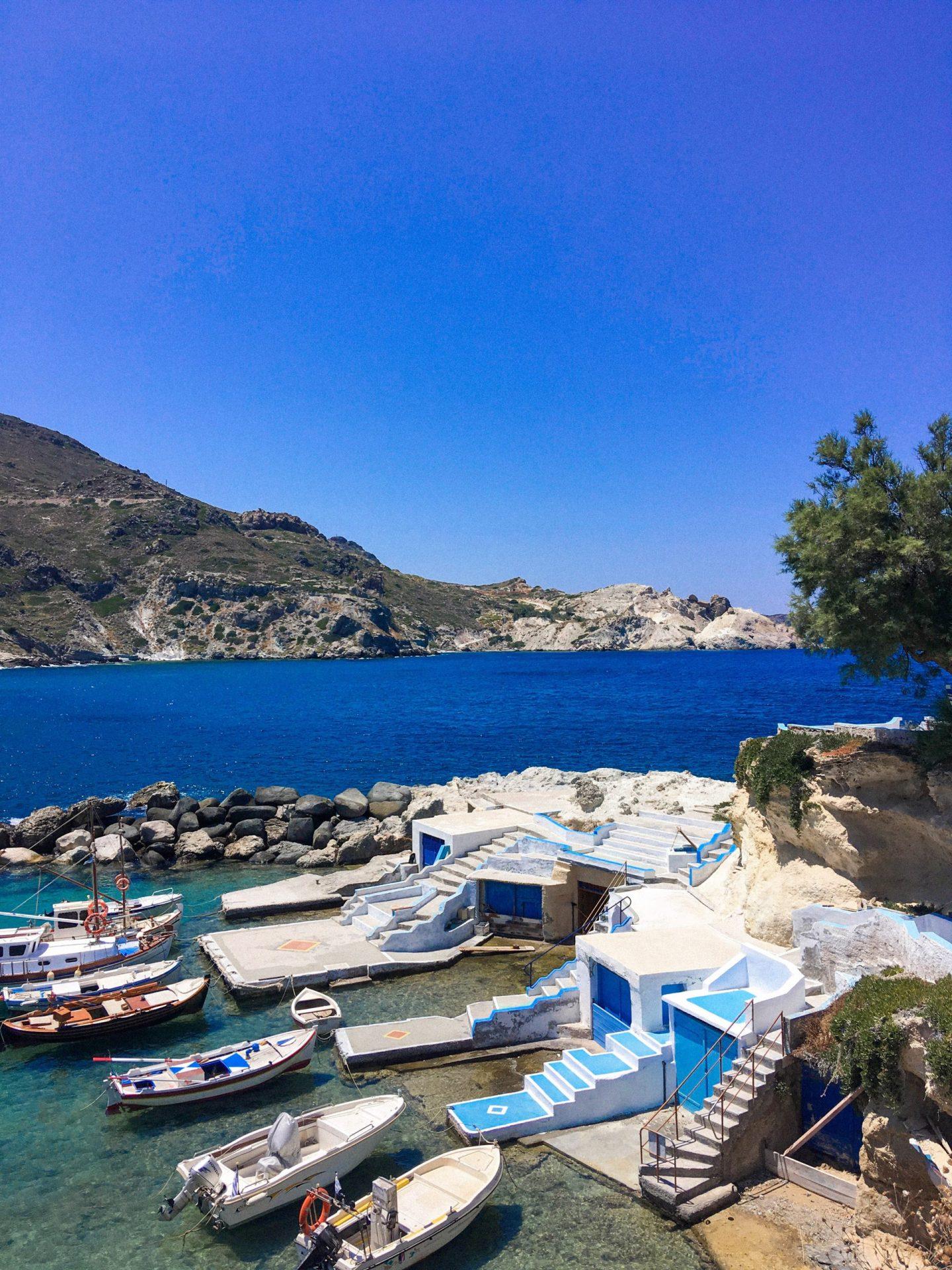 Boats in Milos