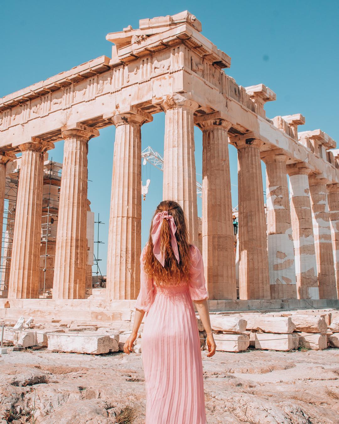 Girl at Acropolis