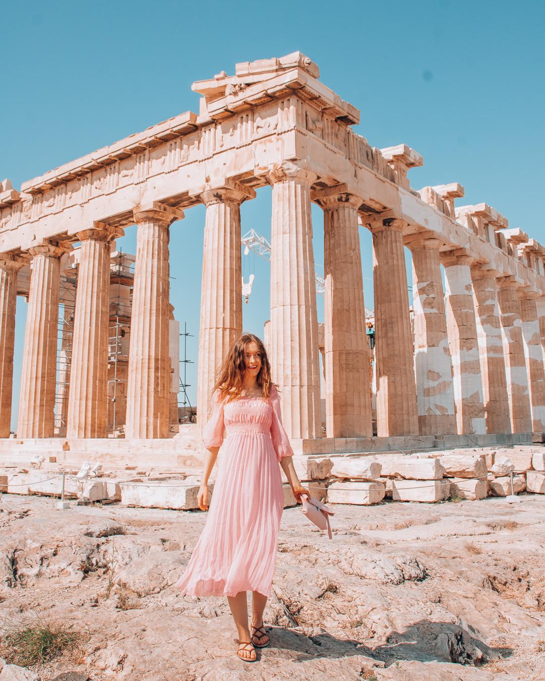 Girl at the Acropolis