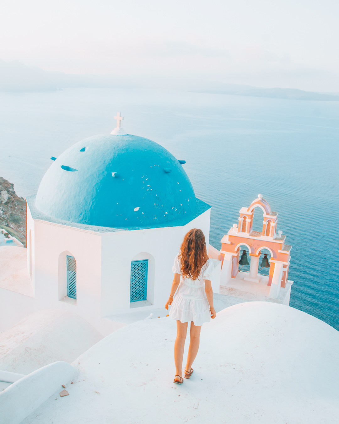 Girl in white dress on top of Church Anastasis