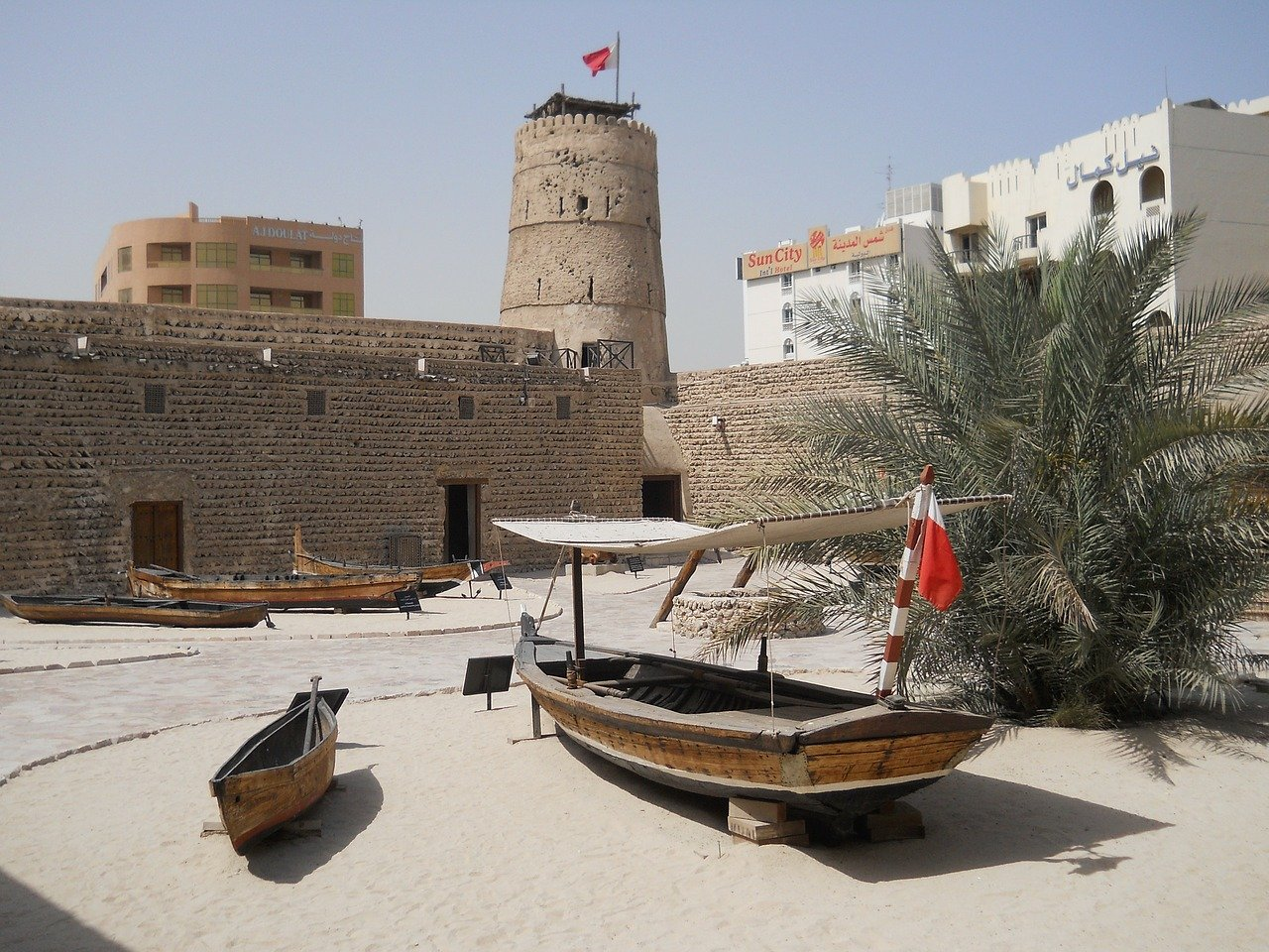 Dubai Museum from the outside