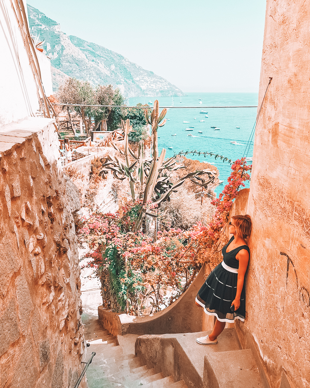 Stairs at Via Fornillo in Positano