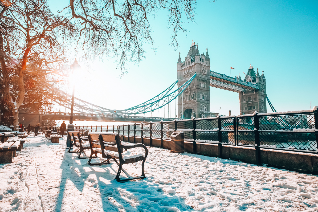 Tower Bridge and snow