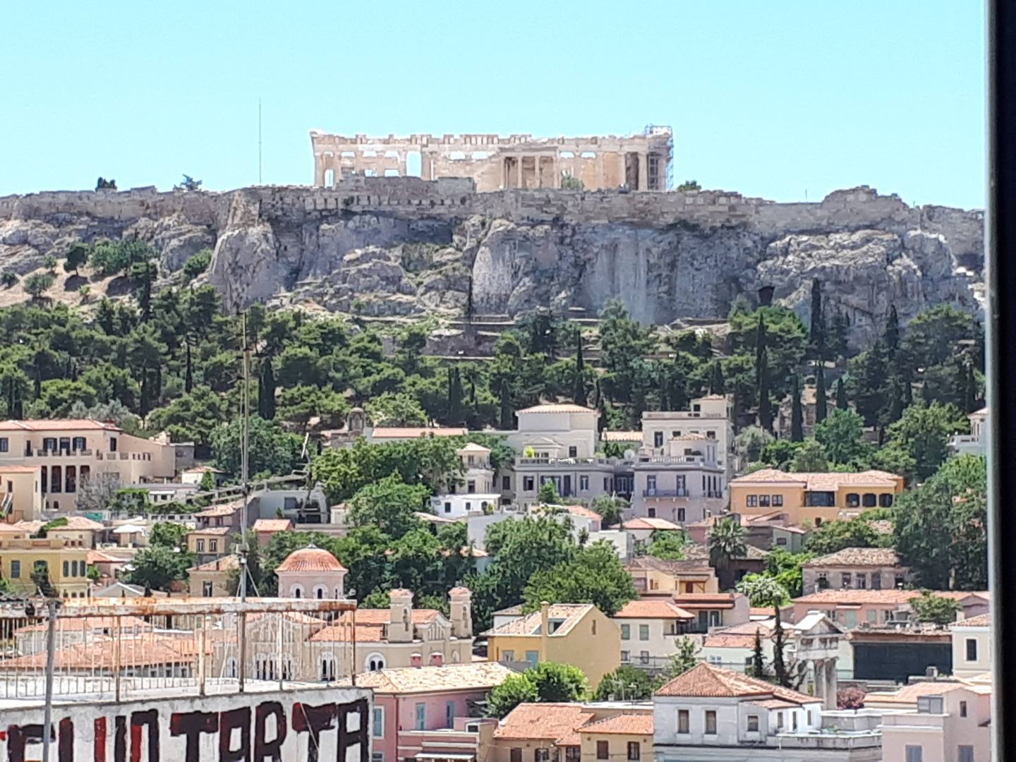 View from an Airbnb in Athens