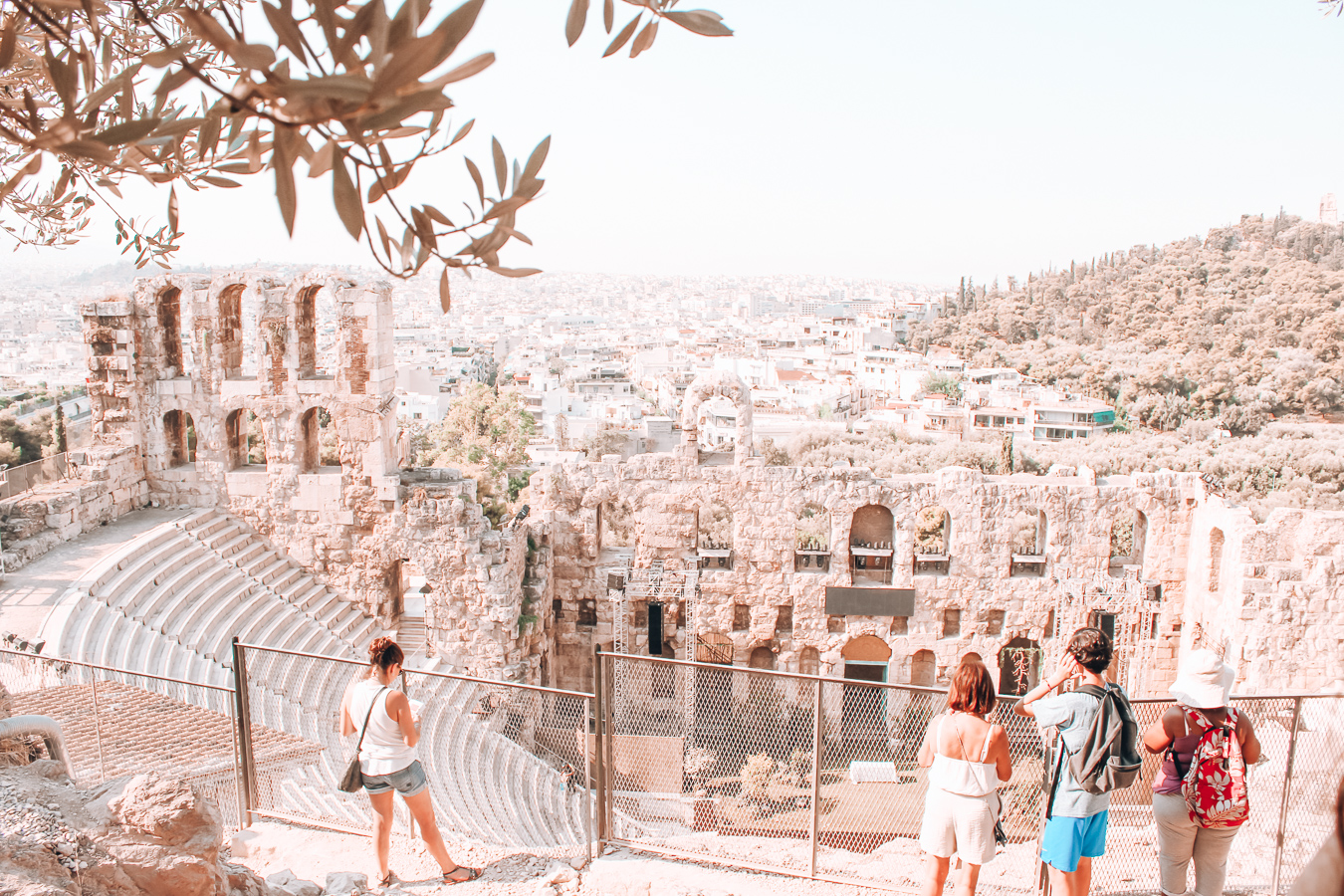The Odeon of Herodes Atticus at the Acropolis