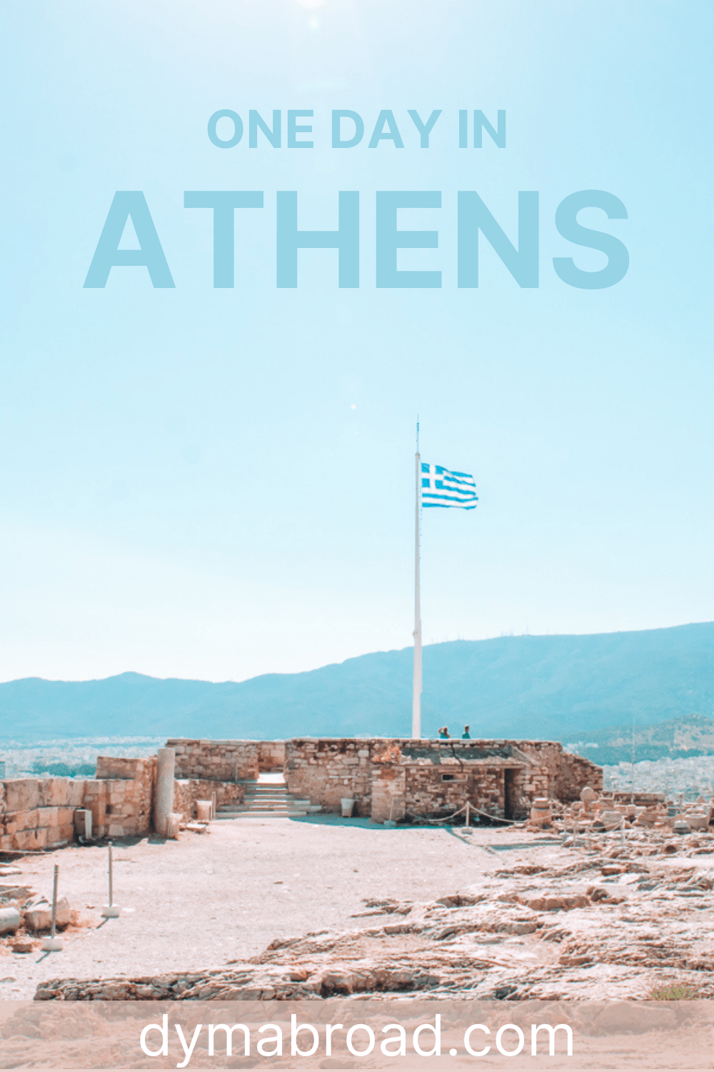 Second Pinterest image one day in Athens