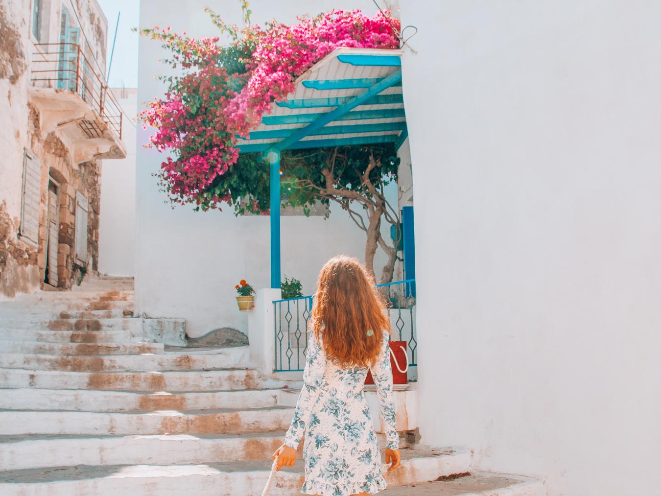 Girl in Paros, Greece