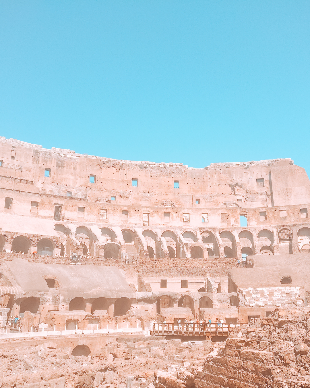The Colosseum from the inside