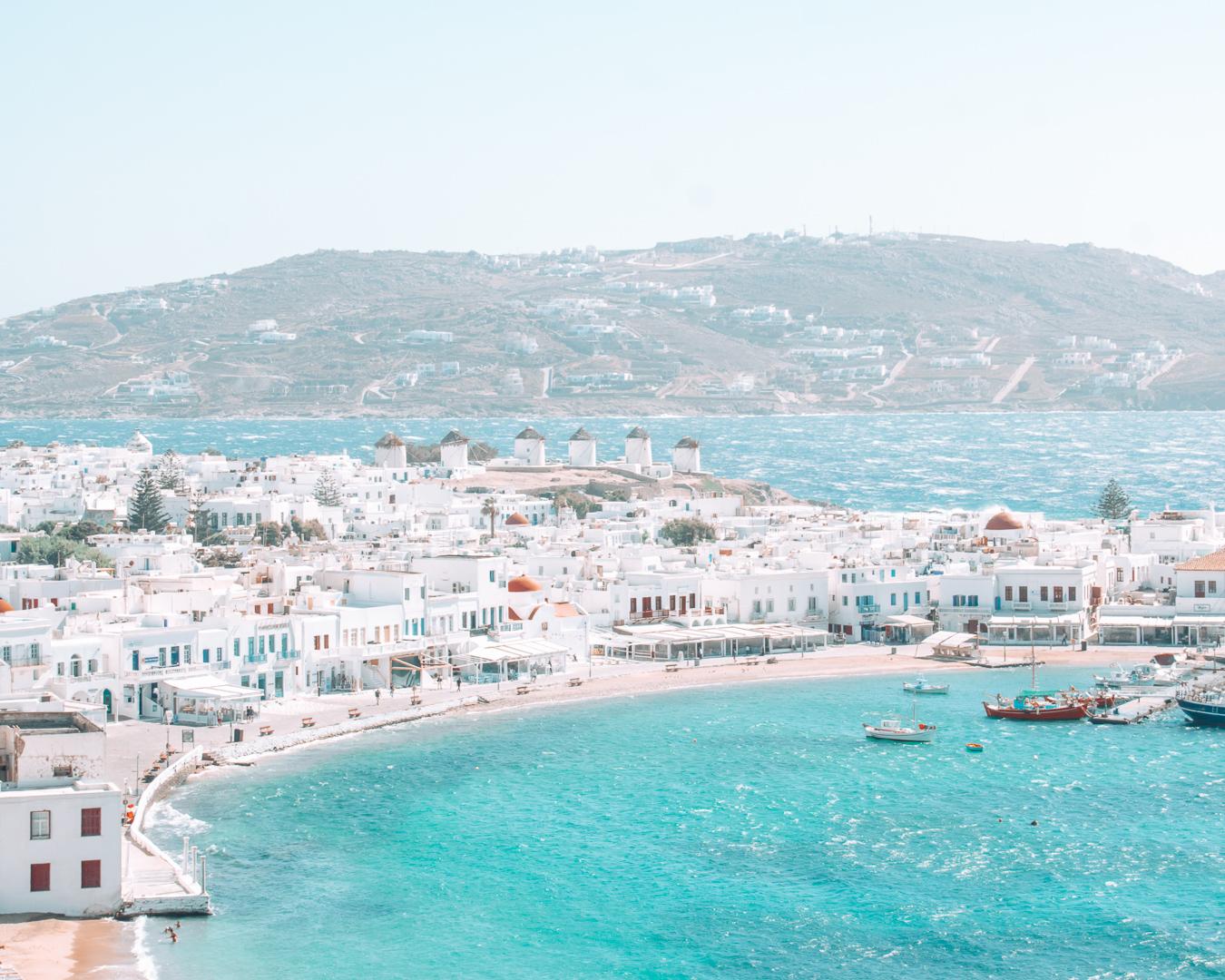 View of Mykonos in Greece