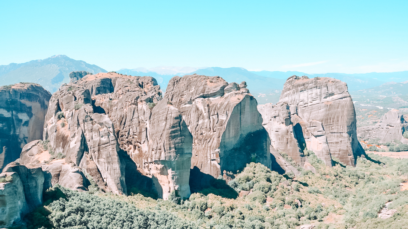 Beautiful view of the Meteora
