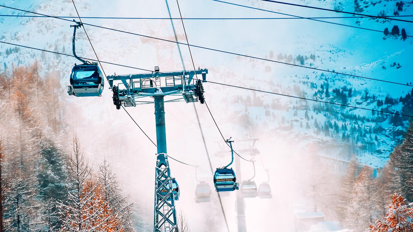 A ski lift in Zermatt